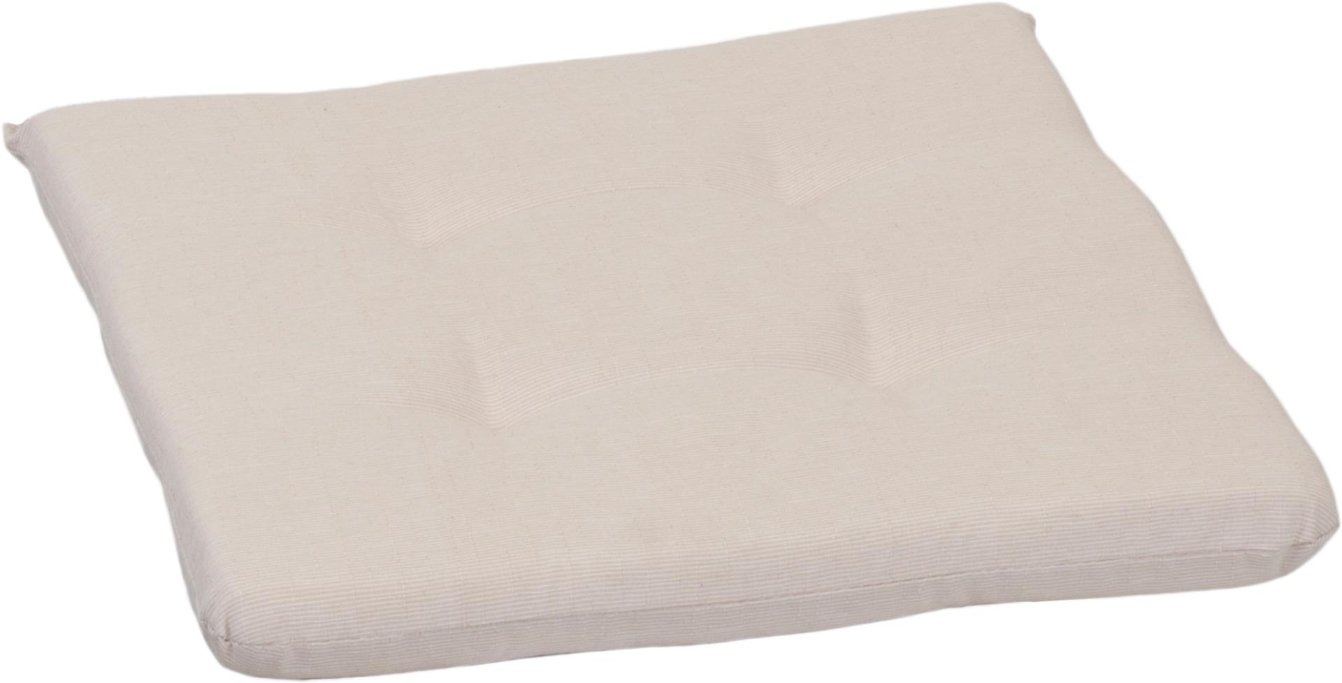 Beiges strukturiertes rechteckiges Stuhlkissen ca. 41 x 41 cm ca. 4,5 cm dick von beo