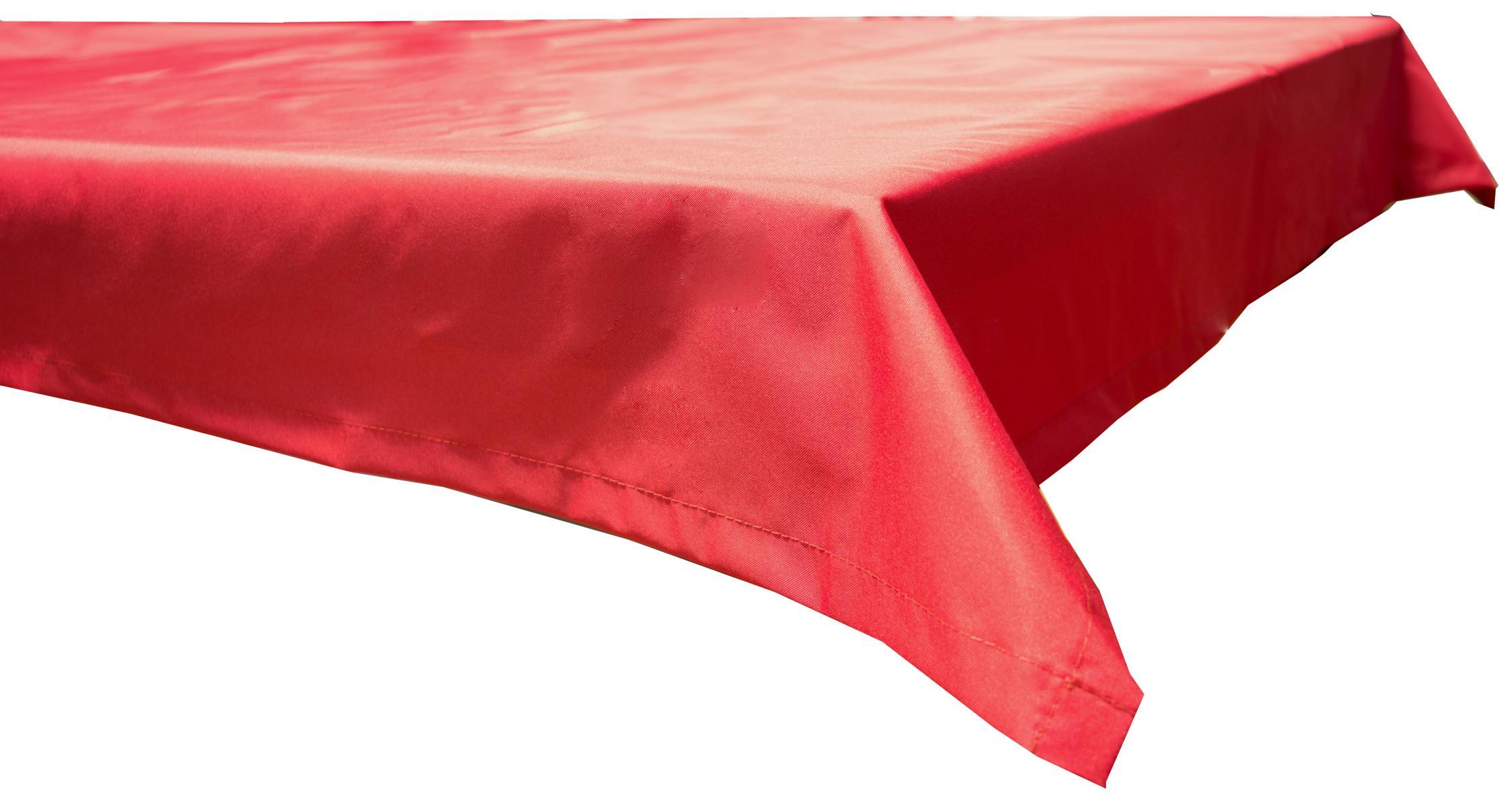130x230 cm wasserabweisende Tischdecke 100% Polyester in rot