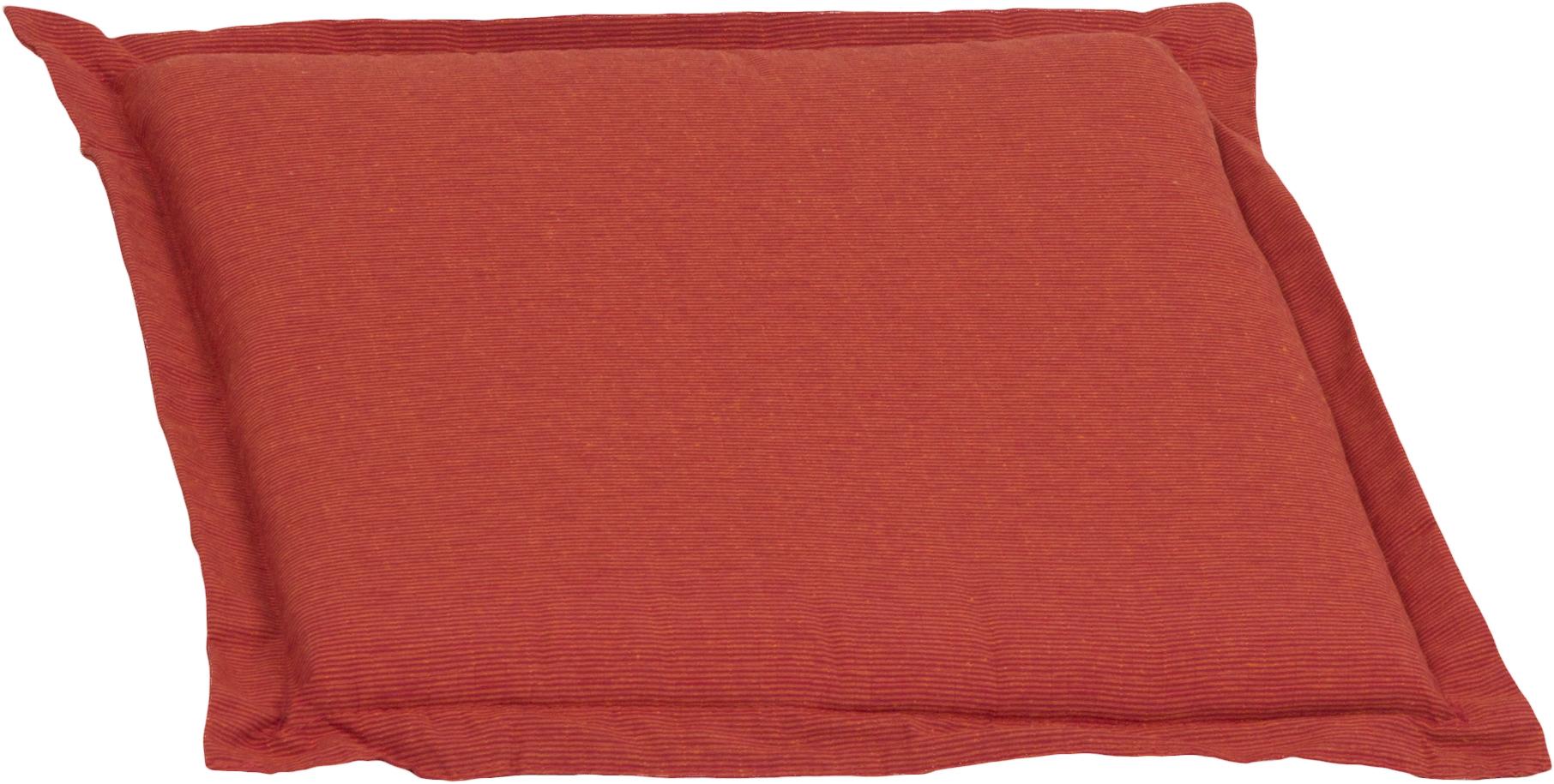Bankauflage Sitzkissen ca. 49x46x6 cm orange meliert