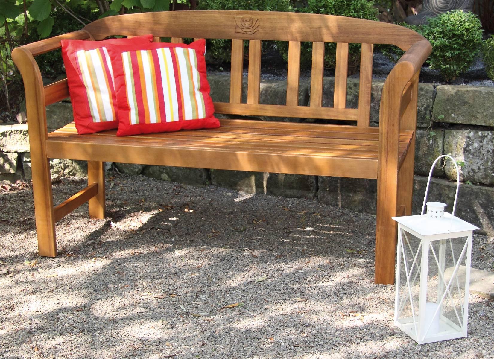 Batam 2-Sitzer Gartenbank von acamp aus FSC®-zertifiziertem Akazienholz mit Teaköl Finish