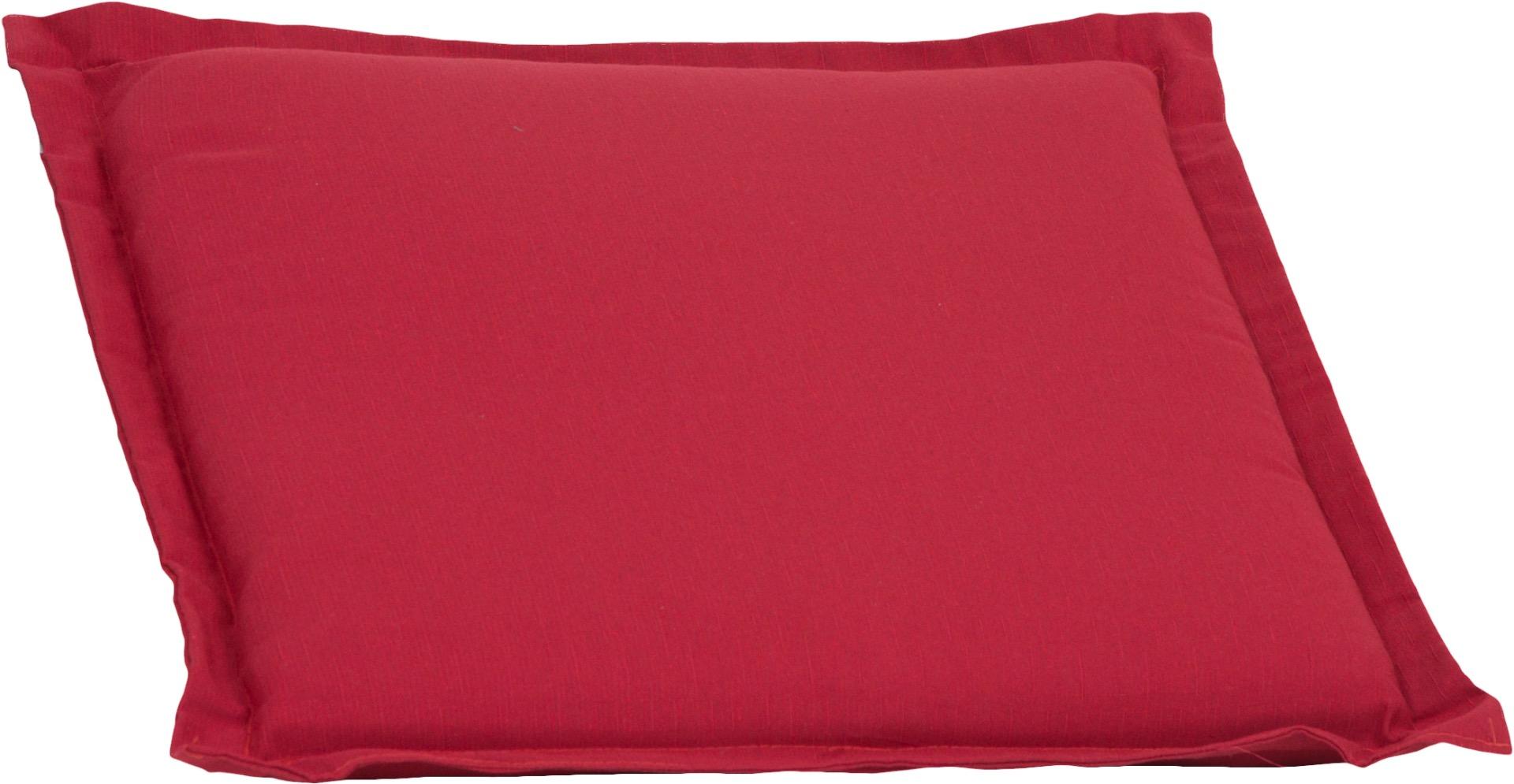 Bankauflage Sitzkissen ca. 49x46x6 cm rot meliert