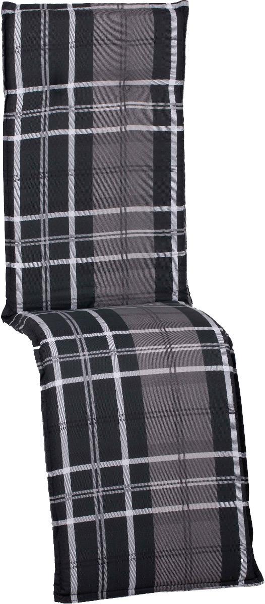 beo Gartenmöbel Auflage karo grau anthrazit für Relaxstühle Beckley M215