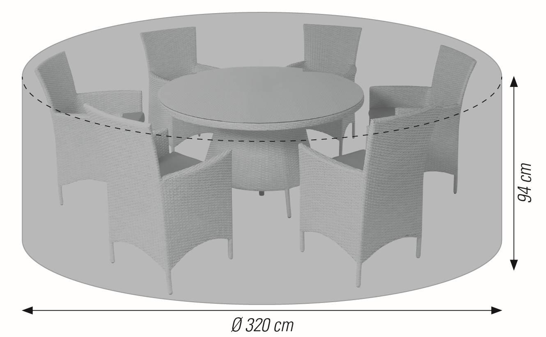 LLK 57719 Schutzhülle für Sitzgruppe rund