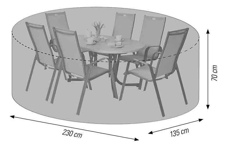 LLK 57720 Schutzhülle für Sitzgruppe oval