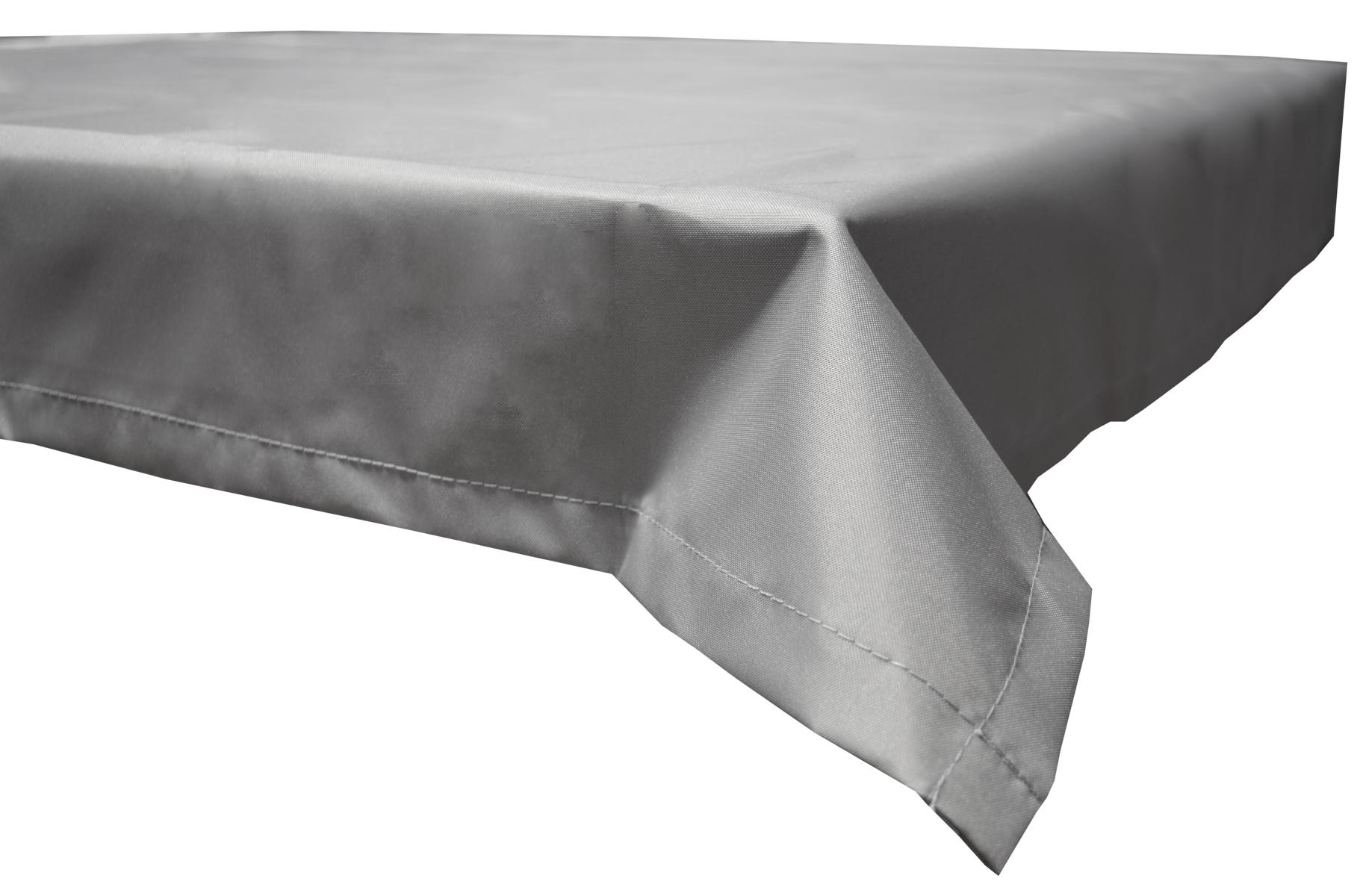 130x230 cm wasserabweisende Tischdecke 100% Polyester in hellgrau