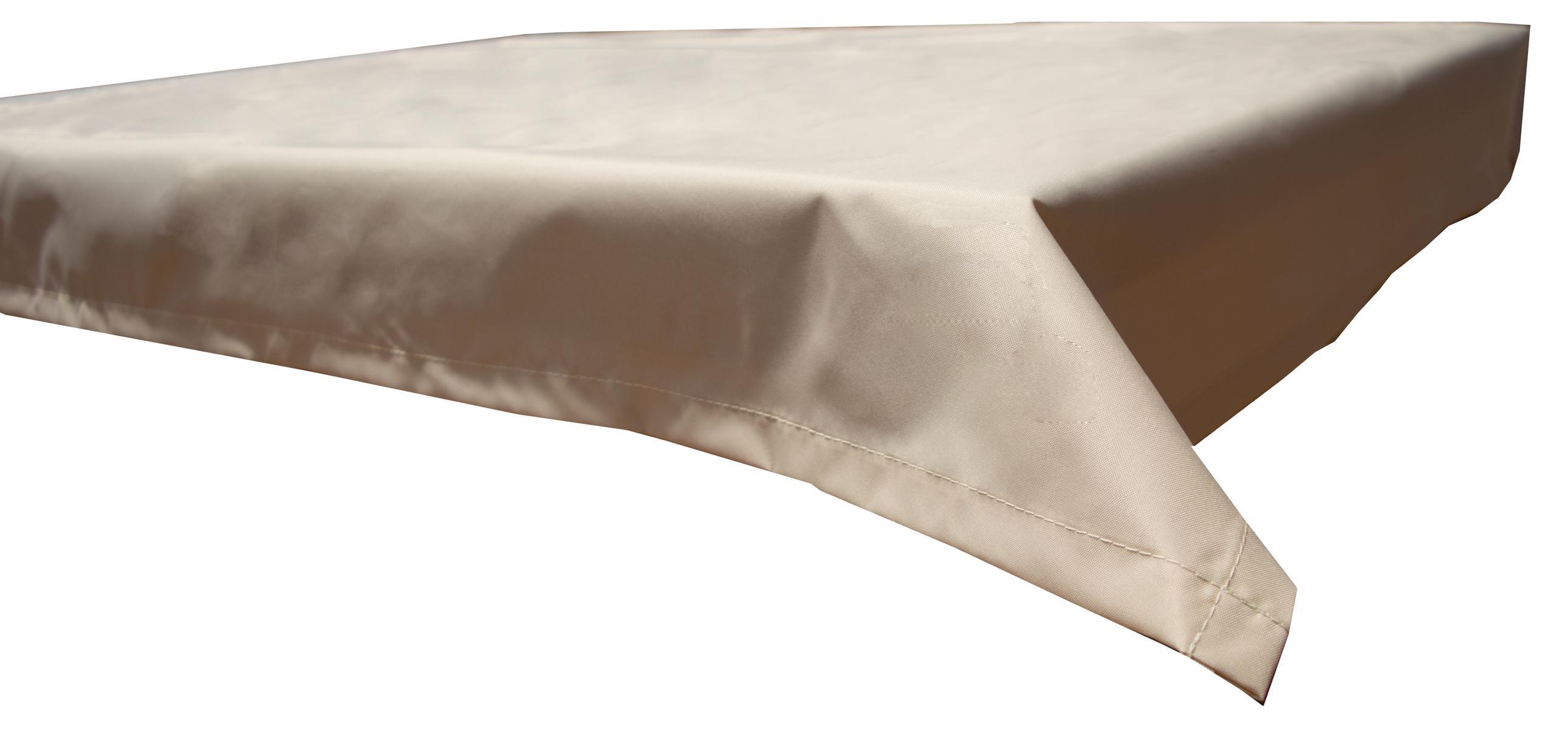 130x230 cm wasserabweisende Tischdecke 100% Polyester in beige