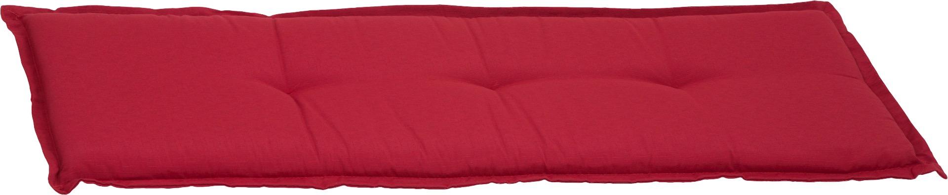 Bankauflage 3-Sitzer Sitzkissen ca. 145x45x6 cm rot meliert