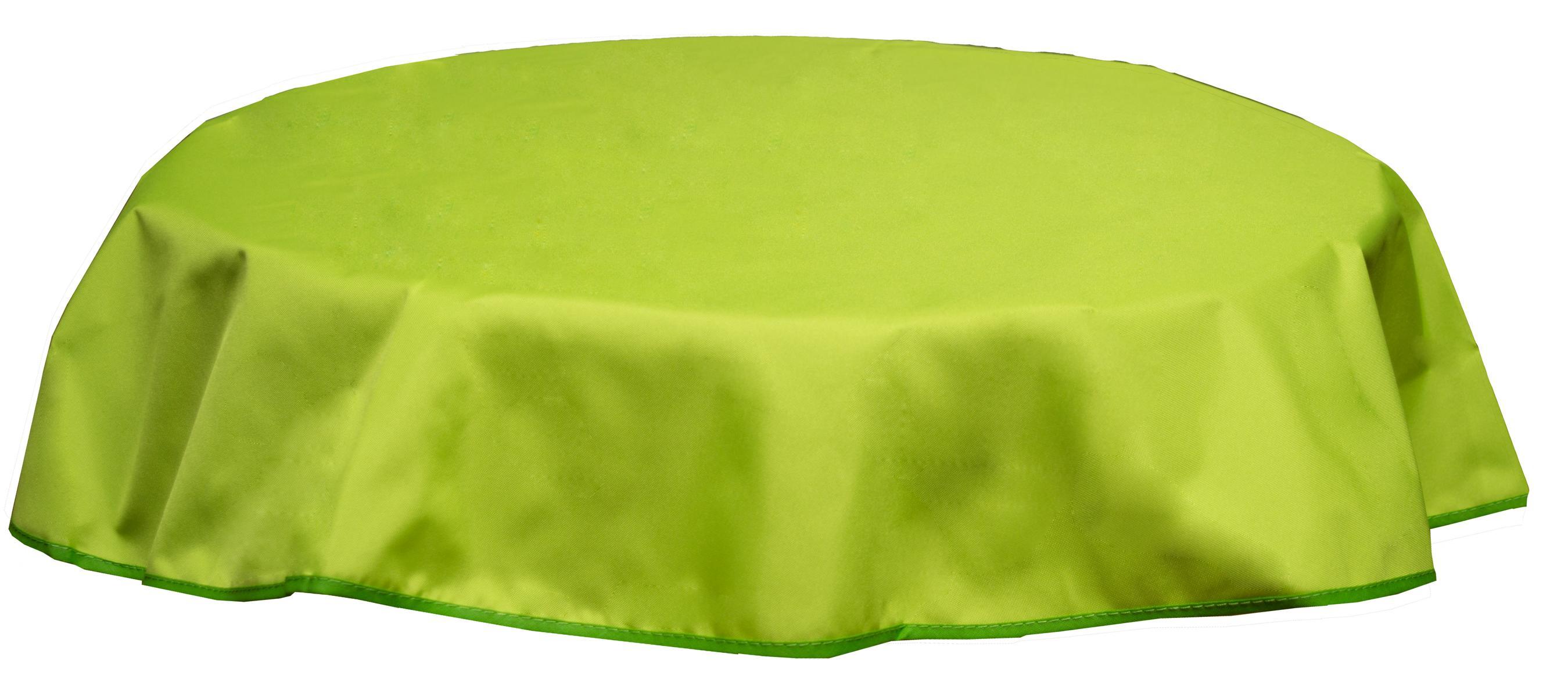 Runde Tischdecke 120cm wasserabweisend 100% Polyester in hellgrün