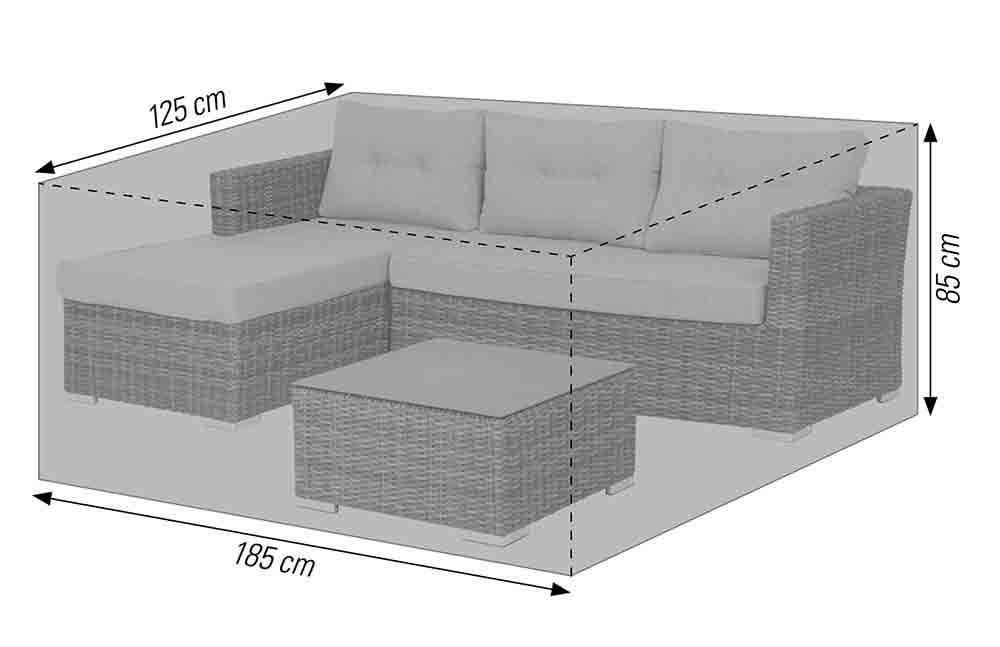 Schutzhülle für Lounge Sets 185x125x85 cm anthrazit acamp cappa Typ 57723
