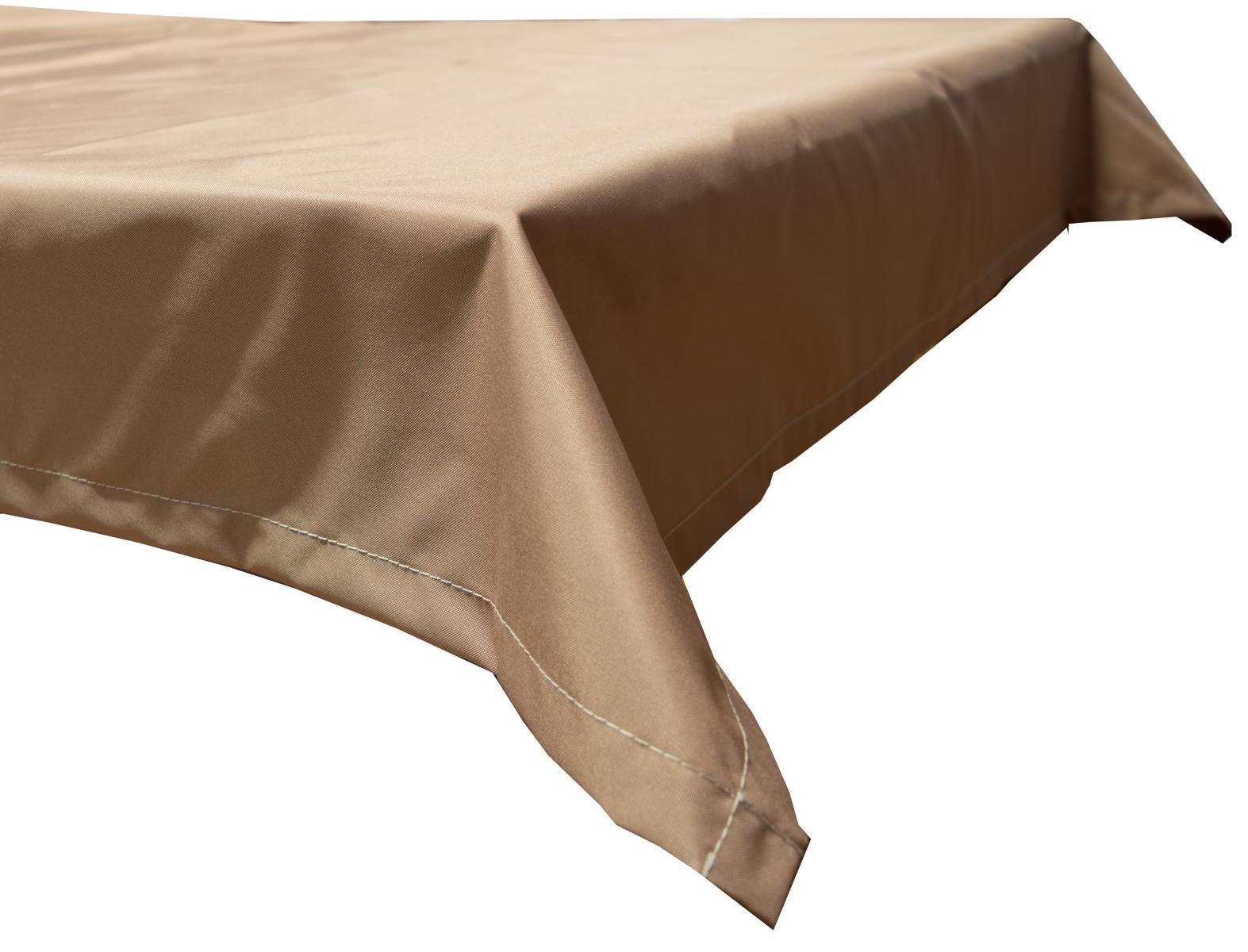 130x230 cm wasserabweisende Tischdecke 100% Polyester in sand