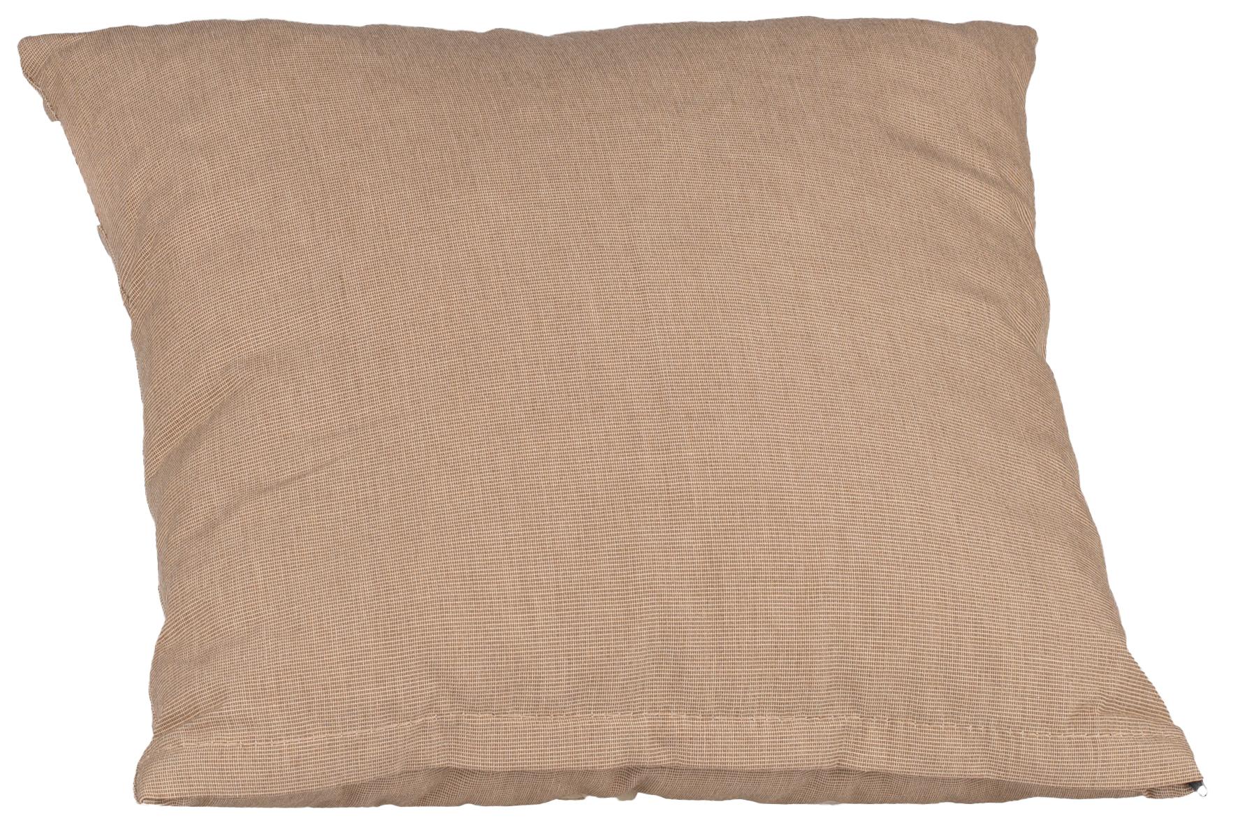 beo Cocktailkissen Rückenkissen quadratisch ca. 35x35cm in dunkelbeige mit Reissverschluss