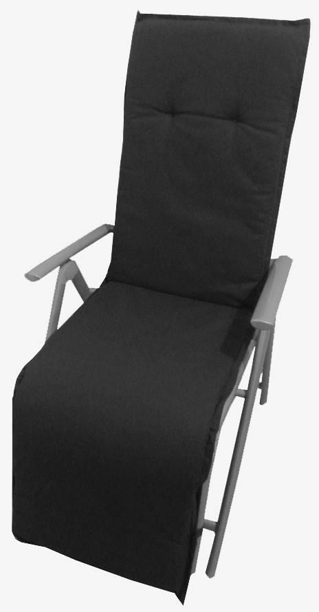 beo Gartenmöbel Auflage anthrazit wasserabweisend für Relaxstühle AUB91
