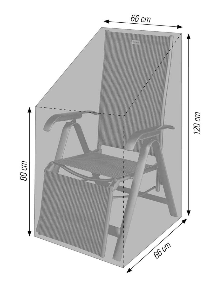 Schutzhülle für Gartenstühle und Relaxliegen in anthrazit acamp cappa Typ 57715