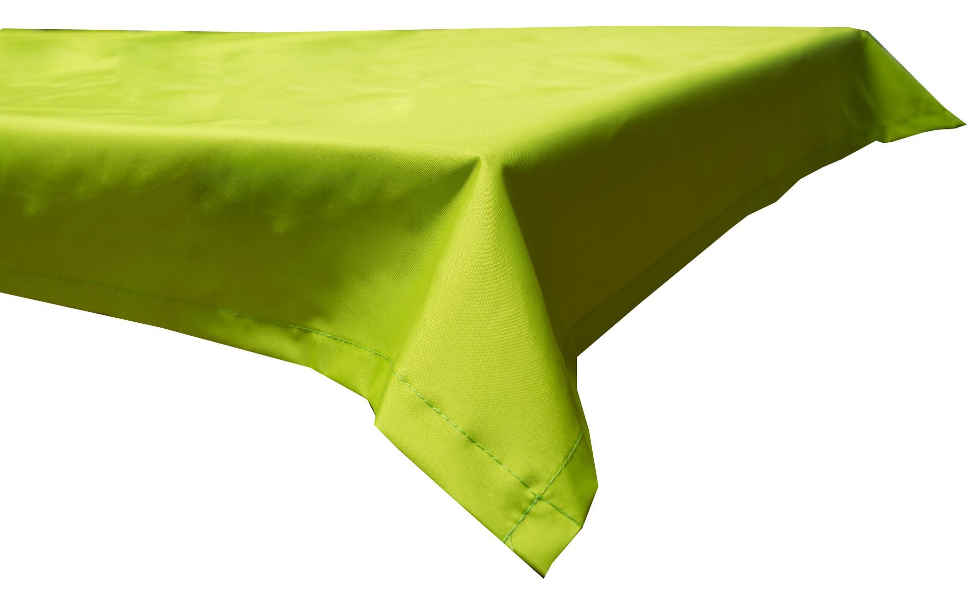 130x230 cm wasserabweisende Tischdecke 100% Polyester in hellgrün