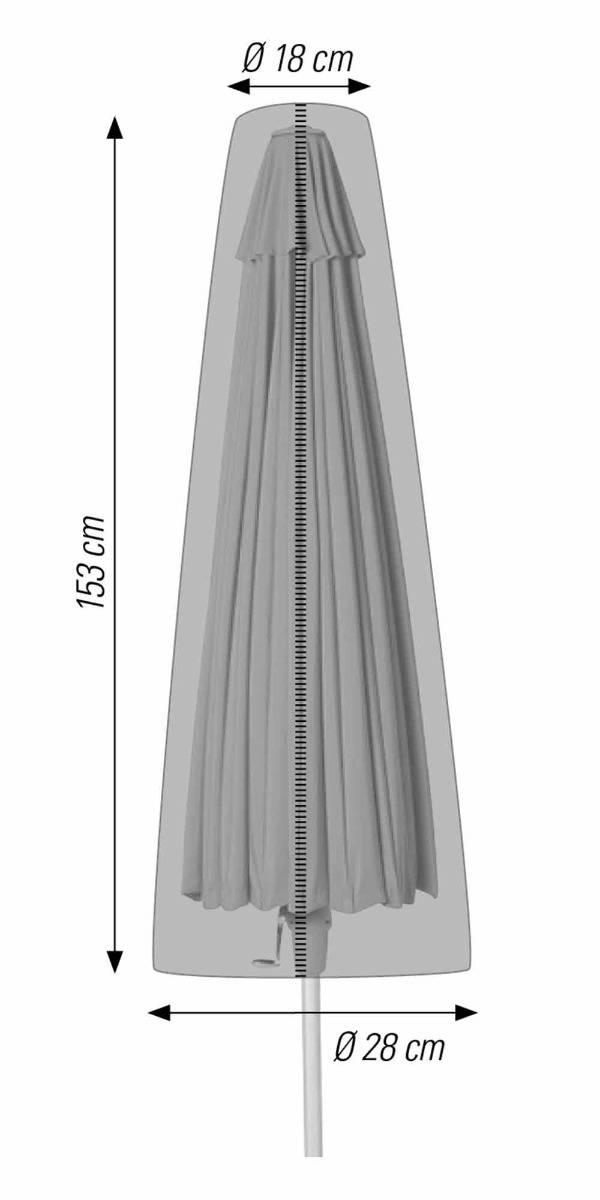 Schutzhülle für Sonnenschirme bis 300 cm anthrazit acamp cappa Typ 57711