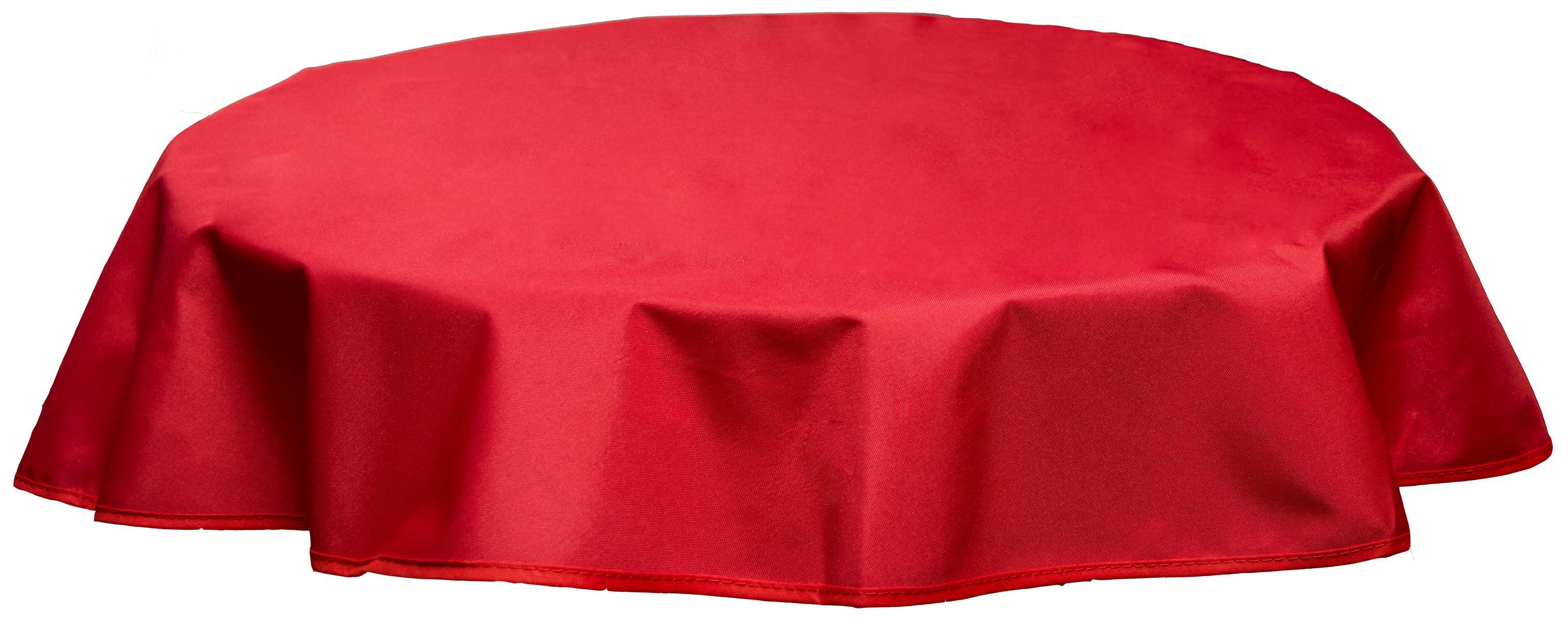 Runde Tischdecke 120cm wasserabweisend 100% Polyester in rot