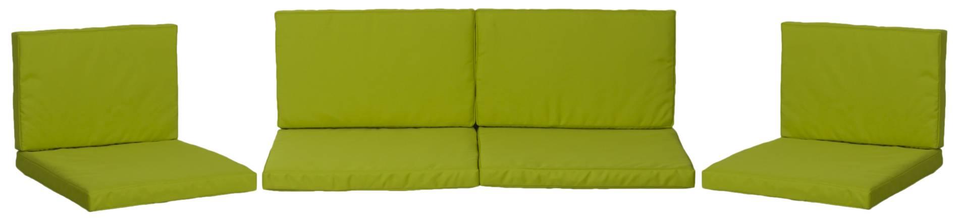 Gartenstuhlkissen 5cm dick in hellgrün für Monaco Lounge Gruppen wasserabweisend