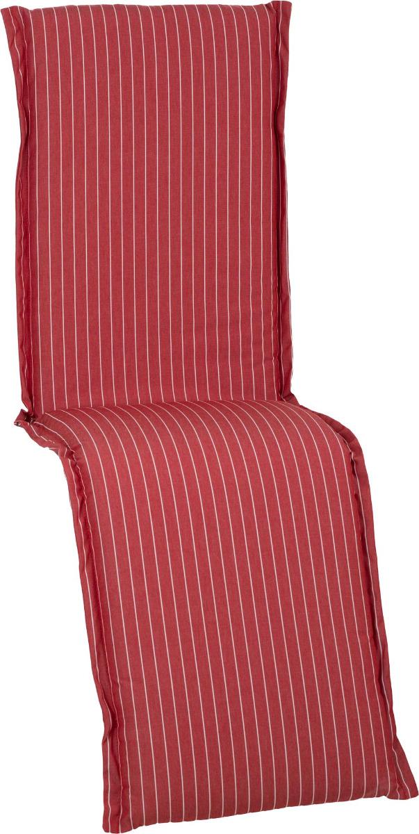 beo Gartenmöbel Auflage für Relaxstuhlkissen feine zarte Streifen Rottöne D608