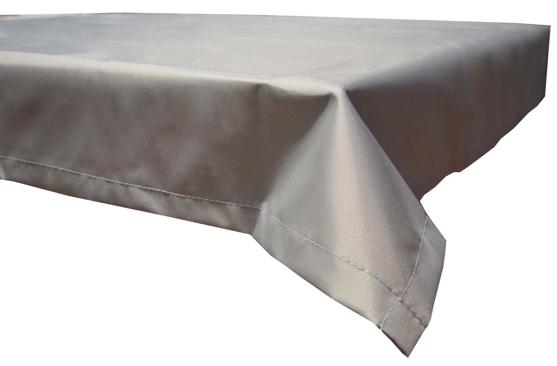 130x180 cm wasserabweisende Tischdecke 100% Polyester in hellgrau