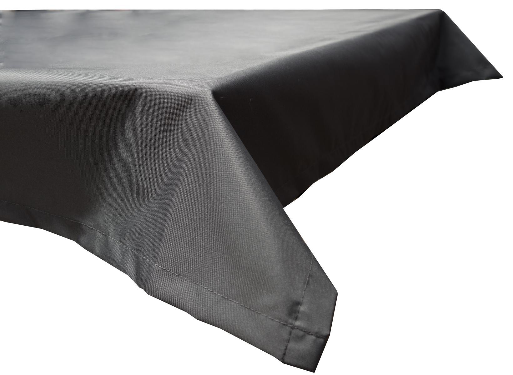130x230 cm wasserabweisende Tischdecke 100% Polyester in anthrazit