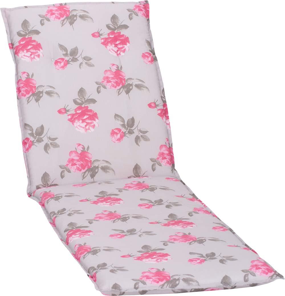 beo Gartenmöbel Auflage für Liege weiss lebensechte Rosen auf zartem grau M909