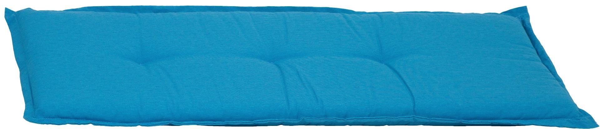 Bankauflage 3-Sitzer Sitzkissen ca. 145x45x6 cm hellblau meliert
