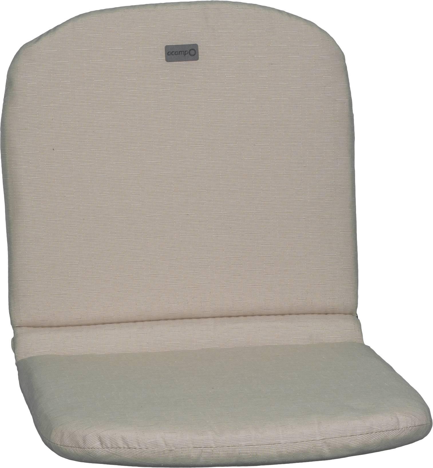 acamp Sesselkissen beige Typ-C 85 x 44 x 4 cm passend für Stapelsessel Alfredo